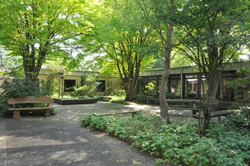 Innenhof der Schule Wildschwanbrook
